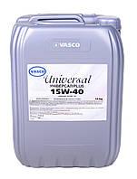 Минеральное моторное масло 15W40 Universal Diesel Vasco кан.20л/18кг