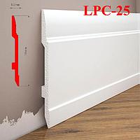 Высокий плинтус из дюрополимера LPC-25 Cezar, 2,0м