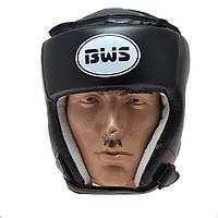 Шлем боксерский открытый BWS р.M (черный)