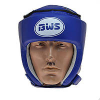 Шлем боксерский открытый BWS р.М (синий)