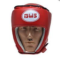 Шлем боксерский открытый BWS р.М (красный)