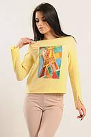 Блуза «Париж» желтого цвета