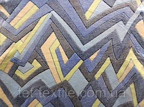 Плед из бамбукового волокна Wellsoft Абстракция синяя (200х220)