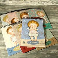 Альбом-скетчбук 1299 для рисования на твердой подложке ТМ Гапчинская (12 листов) 285*190 мм. МИКС КАРТИНОК