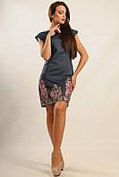 Платье «Фортуна-джинс» темно-синее