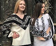 Заготовка Борщівської жіночої сорочки для вишивки нитками/бісером  БС-126 , фото 1