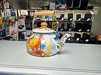 Газовый чайник. Цветочек. 1,6 литра, фото 1