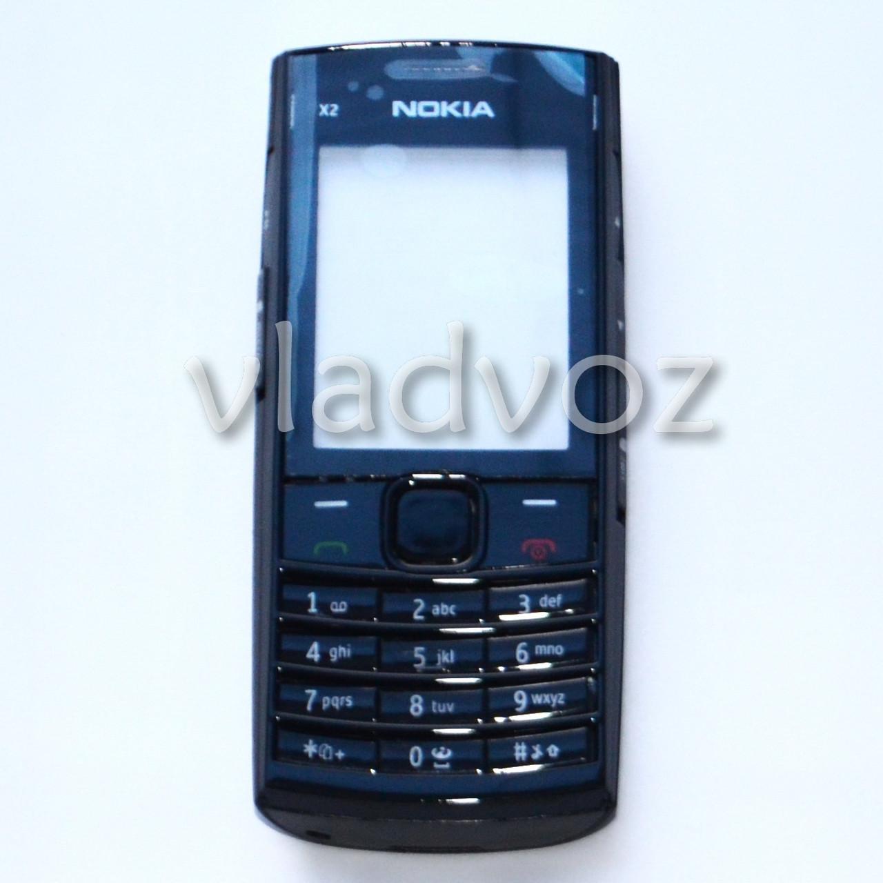 Корпус для Nokia X2 02 чёрный без средней части с английской клавиатурой class AAA