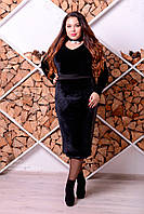 Стильная юбка для полных женщин Искра бархат