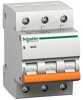 Автоматический выключатель 6А 4,5кА 3 полюса тип C  Домовой ВА63 Schneider Electric, фото 1