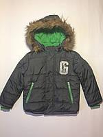Зимняя детская куртка Soul&Glory на мальчика 4-6 лет