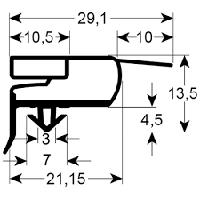 Уплотнитель шухляд холодильного стола Zanussi/Electrolux  0A9595