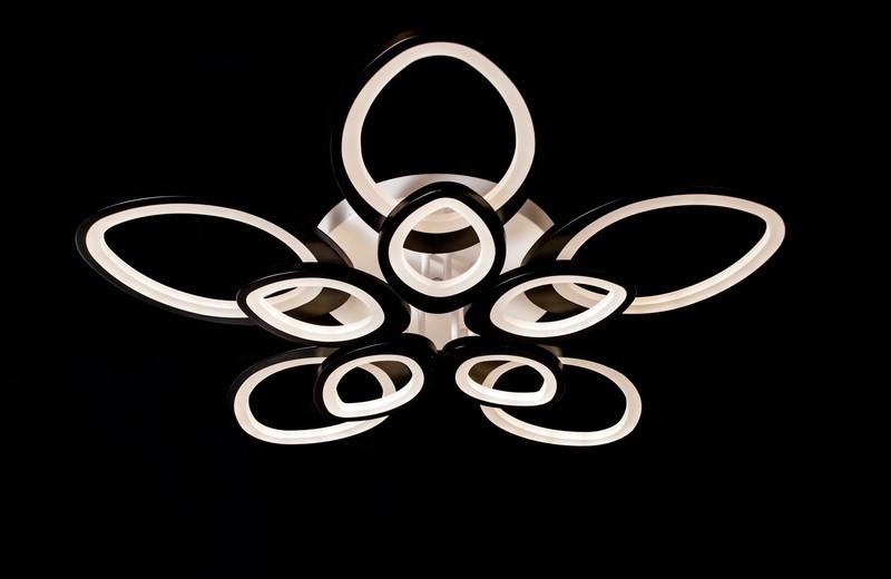Потолочная светодиодная люстра с диммером 5539-5+5