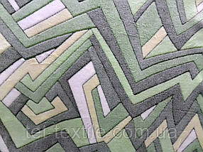 Плед из бамбукового волокна Wellsoft Абстракция зеленая (200х220)