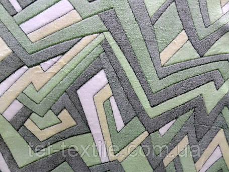 Плед из бамбукового волокна Wellsoft Абстракция зеленая (200х220), фото 2