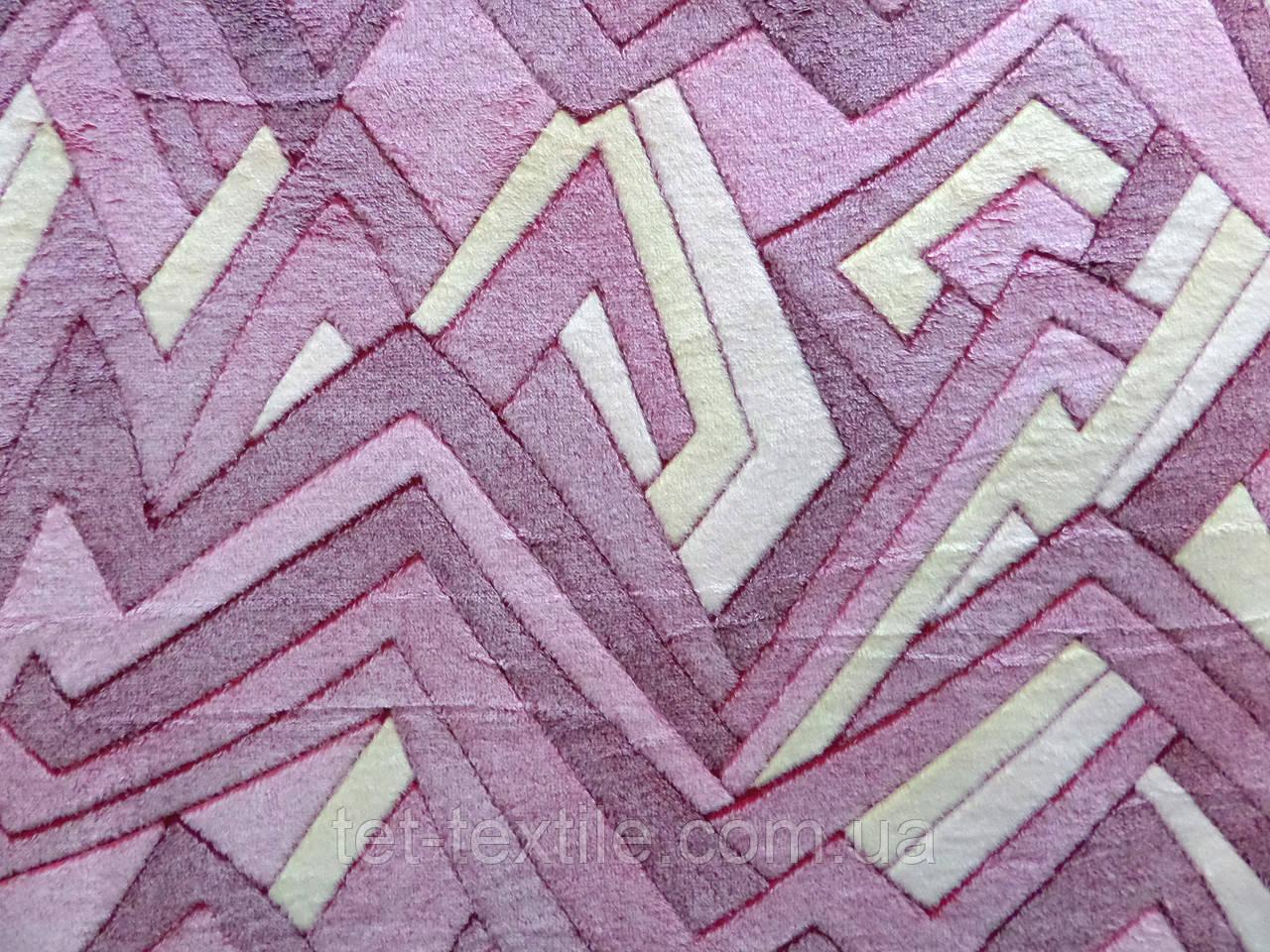 Плед из бамбукового волокна Wellsoft Абстракция розовая (200х220)