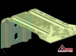 Кронштейн штампованный усиленный, несущий стальной оцинкованный Лстк