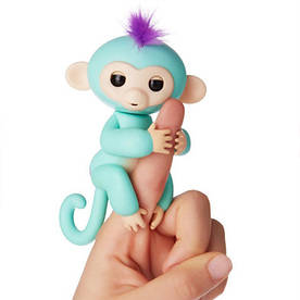 Интерактивная игрушка ручная обезьянка на палец Fingerling Finger Monkey