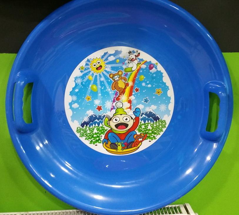 Льодянка  тарілка кругла 60 см колір - синій 70401