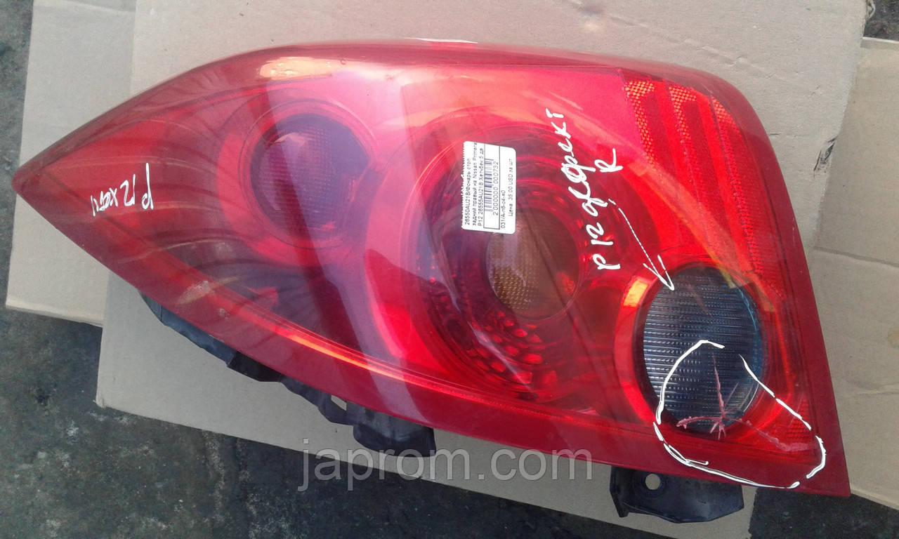 Фонарь стоп задний правый на Nissan Primera P12 26555AU21B Хетчбек 5 дв дефект