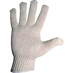 Перчатки вязаные без ПВХ точки, 8400