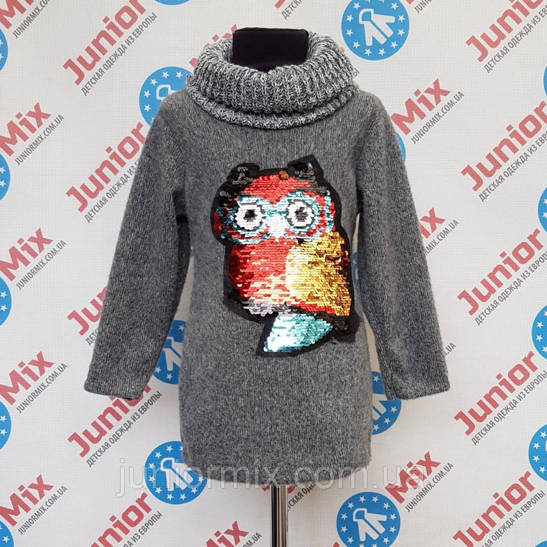 Детская удлененная  теплая кофта с хомутом  для девочек оптом B.B.W. kids