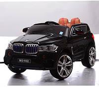 Детский электромобиль джип BMW M 3102(MP4) EBLR-2 черый, кожаное сиденье и MP4 планшет