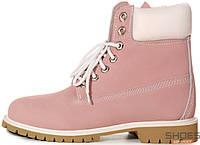 Ботинки Timberland Pink (натур.мех)