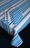 Комплект столового белья в голубом цвете