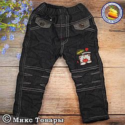 Теплі джинси для малюка Розміри: 1,2,3,4 року (9049-1)