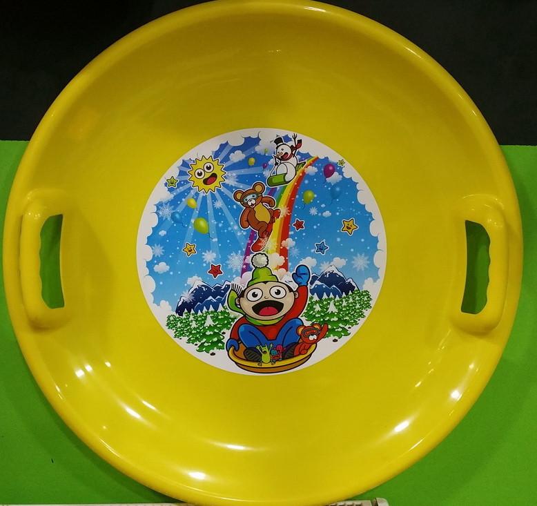 Ледянка тарелка круглая 60 см цвет - желтый 70401