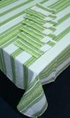 Скатерть шикарная на стол в зеленом цвете