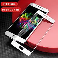 Защитное стекло для Meizu M6 Note 2.5d Белое на весь экран