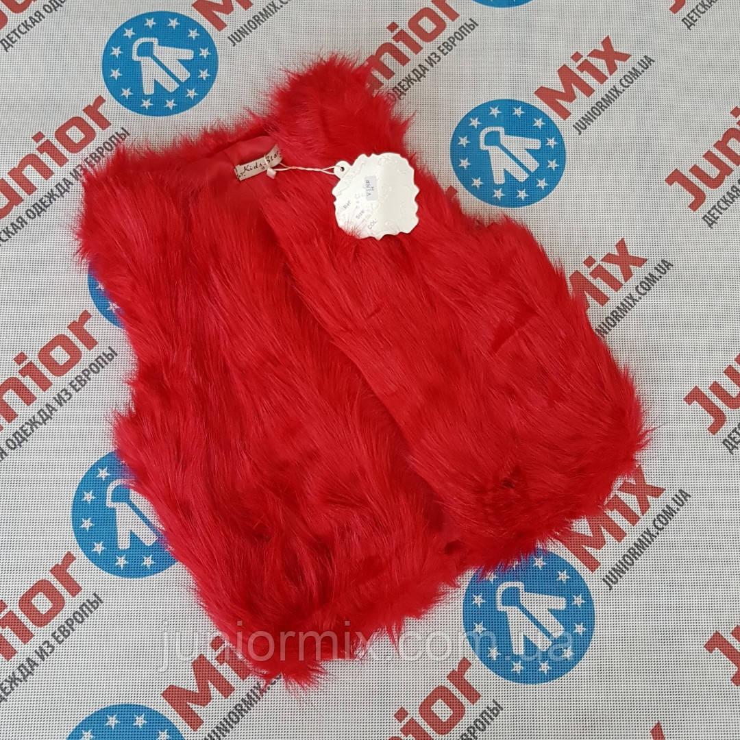 Модная детская меховая  жилетка для девочек  оптом Star kids