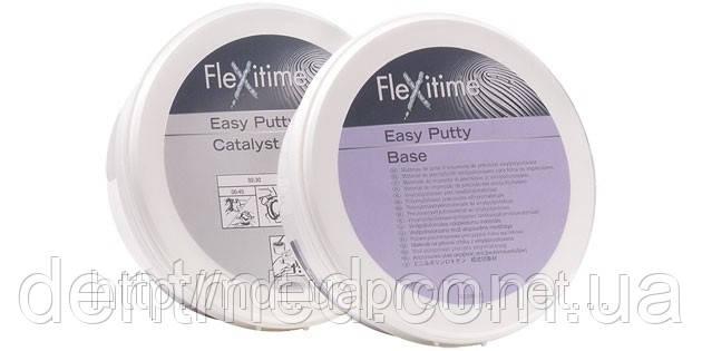 Flexitime Easy Putty А-Силиконовая слепочная масса базовый слой в банках(300мл +300мл) NaviStom