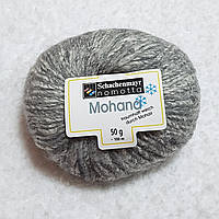 Пряжа кидмохер хлопок шерсть серый твид