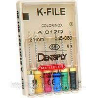 K-FILE (25мм, 10,15,20,25,15-40) расширитель корневого канала, ручной 6 шт