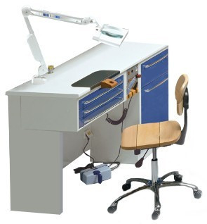 Стол зубного техника на 1 рабочее место, модель В1 NaviStom