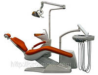 SLOVADENT 800 Optimal  09  - установка несомая креслом с нижней подачей шлангов.