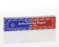 Артикуляционная бумага  BK80 сине-красная 40мк. 200 шт.