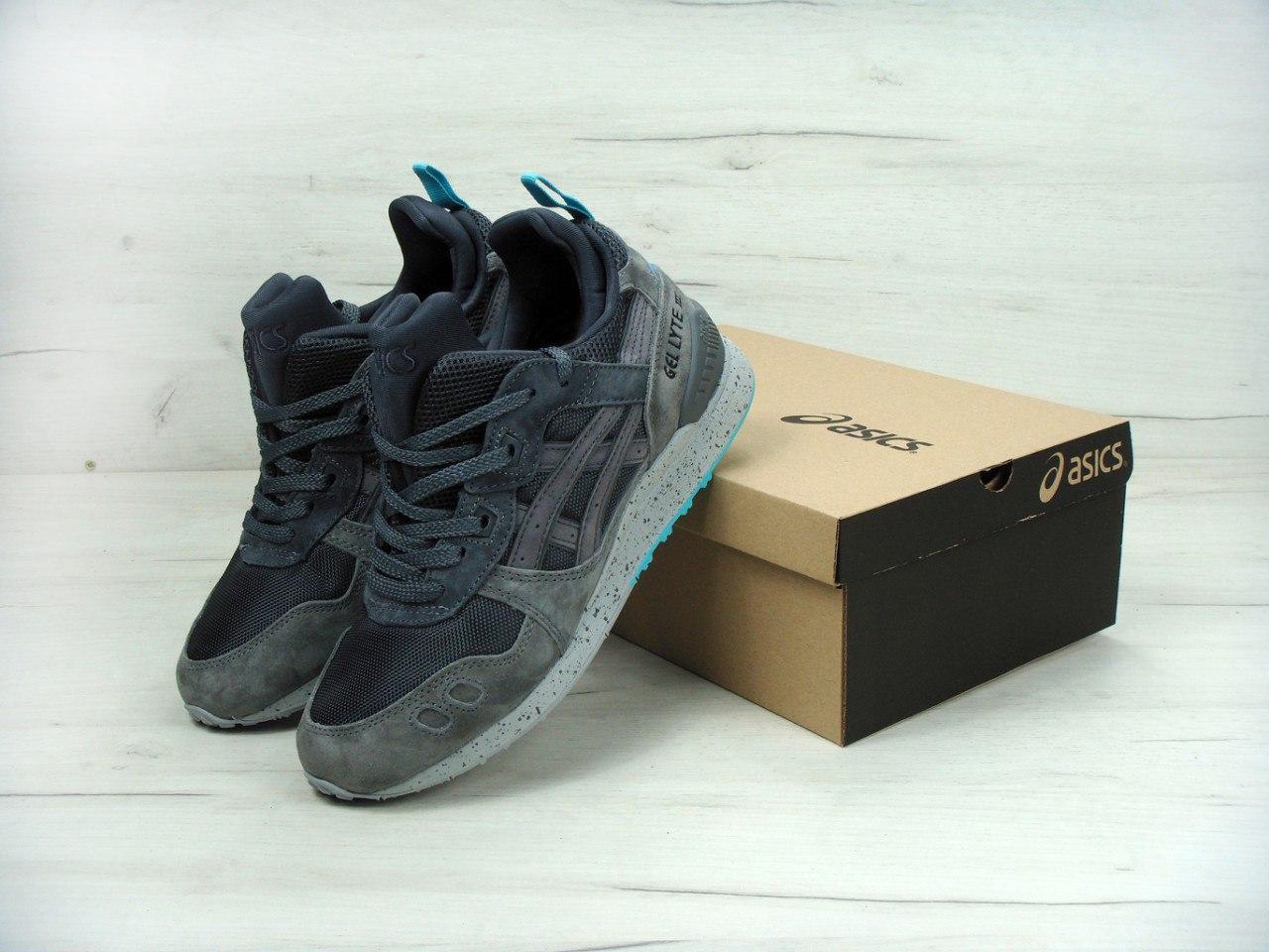 60e1fe19aceb79 Кроссовки мужские Asics Gel Lyte III MT SneakerBoot Grey/Grey Реплика -  Work Hard Shop