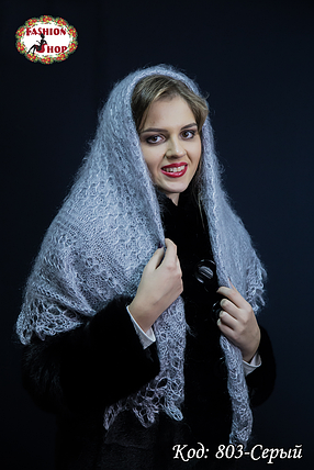 Оренбургский пуховой платок Сильвия 100см, фото 2
