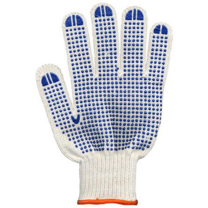 Перчатки вязаные с ПВХ точкой, 8510