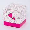 Подарочная упаковка для чашки с розовыми сердечками