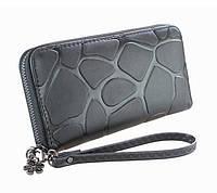 Женский мягкий кошелек на молнии черный цвет модель 2017 года