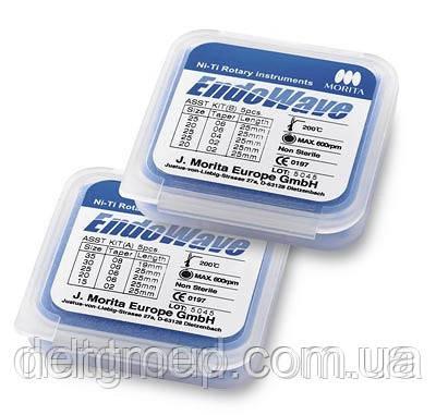 EndoWave машинные никель-титановые файлы 5шт. №20, 02, 25 NaviStom