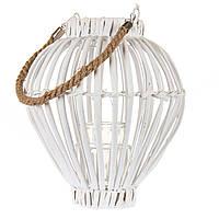 Плетеный подвесной фонарь - подсвечник