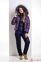 Зимний женский комплект куртка и полукомбинезон