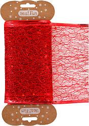 Лента декоративная 10 см*2 м, алая