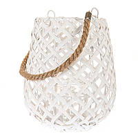 Корзина - фонарь из лозы. Декоративное освещение